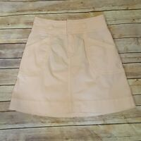 Anthropologie Pilcro and the Letterpress Women's Pink Peach Skirt Pockets Size 2