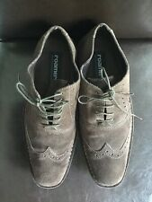 Roamers Mens Brown Suede Brouges Lace Up Shoes Size 8