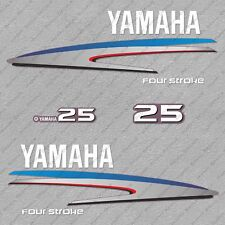 Yamaha 25HP Four Stroke Outboard Engine Decals Sticker Set reproduction 25 HP