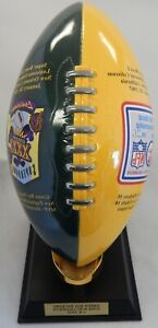 "Green Bay Packers Danbury Mint 2005 12"" Tall Dynasty Trophy Football"