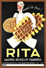 Art Ad Rita biscuits and wafers   Deco  Poster Print
