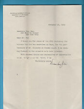 Nicholas Murray Butler (Nobel Peace Prize 1931)  Typed Signed Letter 11/21/1929