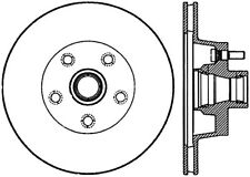 Disc Brake Rotor-Front Disc Front Left Stoptech 127.61002L
