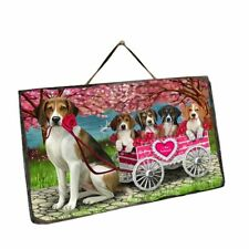 I Love Cart Dog Cat Hanging Slate, Valentine Pet Photo Lovers Gift Wall art