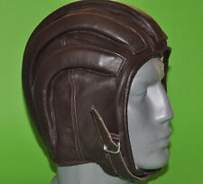 VTG Aviator PARATROOPER / PILOT leather helmet cap Bulgarian Army Motorcycle NEW