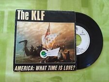 "VINILO SINGLE PROMO "" THE KLF "" AMERICA: WHAT TIME IS LOVE?"