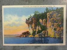 TEN (10) Vintage Linen Postcards Rock Point Lake Champlain, Burlington, Vermont