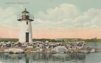 COBBOSSEE LIGHTHOUSE, Vintage Postcard, Winthrop ME, circa early 1900's
