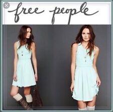 Free People Soutache Mini Dress Cutout Back Sz M Mint Green $168