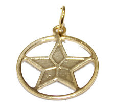 Pentagram Pendant 18K Gold Plated with 20 inch Chain - pentagram Necklace