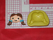 Wizard of OZ Dorothy Push Mold Silicone A563 Cake Chocolate Resin Polymer Clay