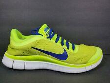 Nike Free Run 3 ID Mens Size 9 Running Shoes Volt Blue Black Sail 588577 991