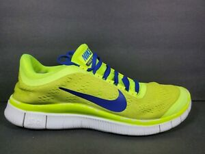 Nike Free Run 3 ID Mens Size 9 Running Shoes Volt Blue Black Sail 588577 991