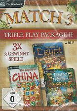 CD-ROM + match 3 + TRIPPLE Play package II + 3 3-vince giochi + Win 8