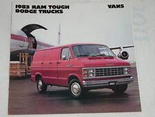 NOS 1983.Dodge Ram Tough Dodge Trucks VANS Color Automobile Brochure