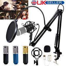BM800 Condenser Microphone Mic Kit Live Studio Sound Recording Mount Boom Stand