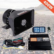 200W Speaker 8 Sound Loud Warning Alarm Police Siren Horn System Auto Safety Kit