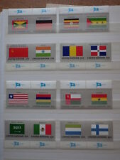 16x stamps ONU Nations Unies UN United Nations NEW YORK Flags 1985 MNH**  2x (H)