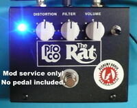 Mod Service No Pedal ProCo Rat Large Box Distortion Guitar Effects Alchemy Audio