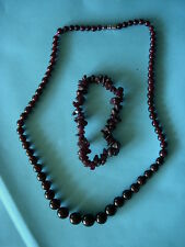 Garnet Collier/Bracelet Set WOW!
