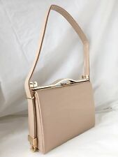 NEW NUDE PATENT EVENING CLUTCH BAG ENVELOPE SHOULDER WEDDING PROM CLUB PARTY