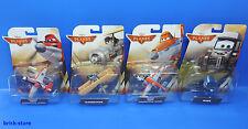 Mattel Disney Aviones 2 / Juego de 4 / ' Pontoon,MARU ,Leadbottom,bombero Dusty