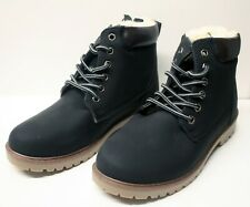 ladies girls winter boots fur lined black size 3