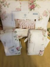 Simply Shabby Chic White Blooming Rose King Quilt And Shams