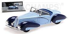 MINICHAMPS 437116160 - Delahaye Type 135 M cabriolet bleu   1/43