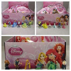 1 Full Set Of 18 x Official Bullyland Disney Princesses Blind Bag Figures - New