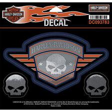 Harley Davidson pegatinas set 4 unidades modelo Skull badge Sheet