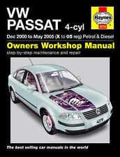 Volkswagen Passat Repair Manual Haynes Workshop Service Manual 2000-2005 4279