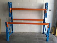 WORKBENCH  PALLET RACKING WORK BENCH SHELVING  WITH TOP SHELF VERY HEAVY DUTY