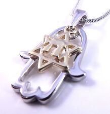 STELLA di David hai Mano Fatima Fatima malocchio collana ciondolo silver oro Chai
