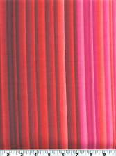 Fabric #2064 Stripes, Red, Pink, Coral, Burgundy, Henry Glass Sold by 1/2 Yard