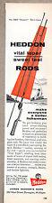 1957 Vintage Ad Heddon Vital Taper Fishing Rods Dowagiac,MI