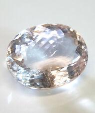Large natural earthmined morganite (pink aqua)...oval cut ...13.9 carat