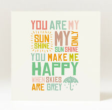 Handmade and Hand Designed You Are My Sunshine Card
