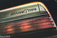 1983 BUICK T TYPES Brochure: RIVIERA,SKYLARK,REGAL,TURBO, Type