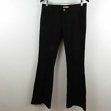 CAbi Super Flare Leg Black Jeans Womens Size 6 Low Rise