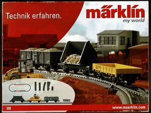 MARKLIN 78082 TRACK EXTENSION SET, Switch, Siding Track & 3 Cars