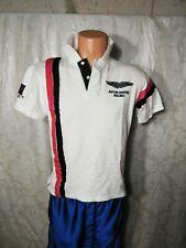 Hackett London Red White And Blue  Polo Shirt  Medium  @15