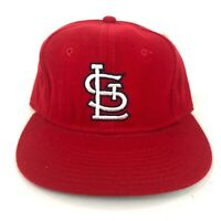 Vintage St Louis Cardinals New Era Pro Model 6 3/4 Fitted Hat Cap Red White 90s
