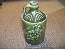 Vintage Retro Chic McCoy Moonshine Whiskey Jug Green Pottery Cookie Jar