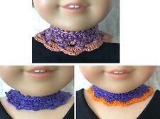 New listing Crochet Doll Collar / Bear Victorian Collar Fits18in American Girl Doll D16