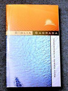 Portuguese Bible, NVI, (NIV), Orange-Blue, Paperback, Brazilian Portuguese