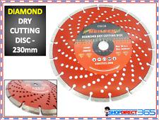 "9"" 230MM Diamond Dry Cutting Disc Angle Grinder Saw Blade Disc Stone Masonry 128"