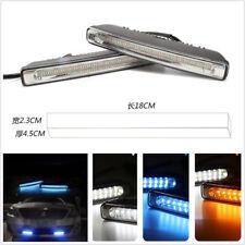 DC12V 3-Color White+Amber+Blue LED Car Truck Daytime Running Lights Signal Lamps