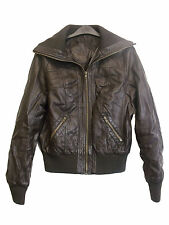 New Look Women's Faux Leather Waist Length Casual Coats & Jackets