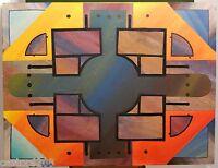 Gouache & Collage Art Architektur Ende The Twentieth 63x48,5 CM Zeichnung Roesch